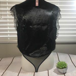 Victoria's Secret Intimates & Sleepwear - Victoria's Secret Black Bodysuit Teddy Plunge